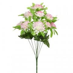 Букет калинка с розеткой - розово-белая 50 см