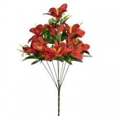 Букет цимбидиум красный 50 см