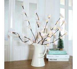 Светодиодная ветка орхидеи - белая