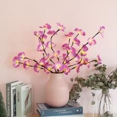 Светодиодная ветка орхидеи - фиолетовая