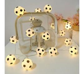 """Гирлянда """"Футбольные мячи"""" 20 ламп 3 м - USB"""