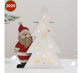 """Композиция с подсветкой """"Санта с елкой"""""""