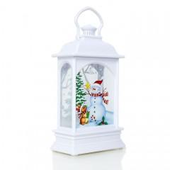 Свічник зі свічкой - білий 12,5 см
