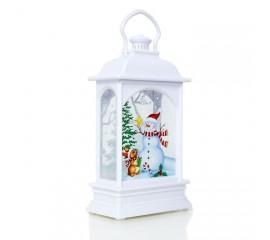 Подсвечник со свечей  - белый 12,5 см
