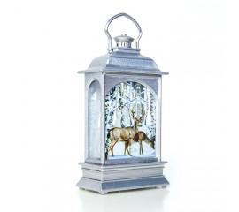 Подсвечник со свечей  - серебро 12,5 см