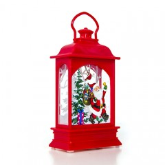 Підсвічник зі свічкою - червоний 12,5 см