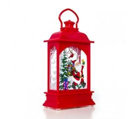 Подсвечник со свечей - красный 12,5 см