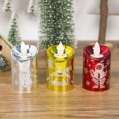 Новогодняя свеча с эффектом пламени 8 см