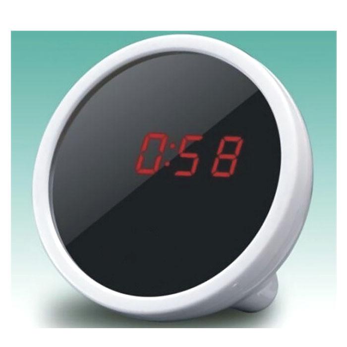 Макияжное зеркальце + часы + будильник