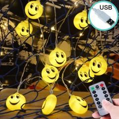 """Led гирлянда """"Смайлики"""" 35 ламп, 5 м, пульт ДУ, 8 режимов, usb"""