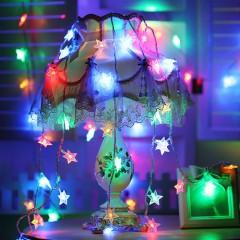"""Світлодіодна гірлянда """"Зірочки"""", 10 ламп, 1,5 м, кольорова, на батарейках"""