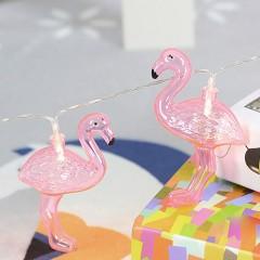 "Светодиодная гирлянда ""Фламинго"" 10 ламп, 1,5 м, на батарейках"
