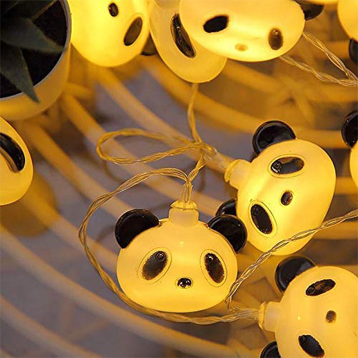 """Гирлянда """"Панда"""" 20 ламп, 3 м, на батарейках"""