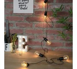 Гирлянда с лампочками - прозрачные, 50 лампочек, 15 м. на батарейках
