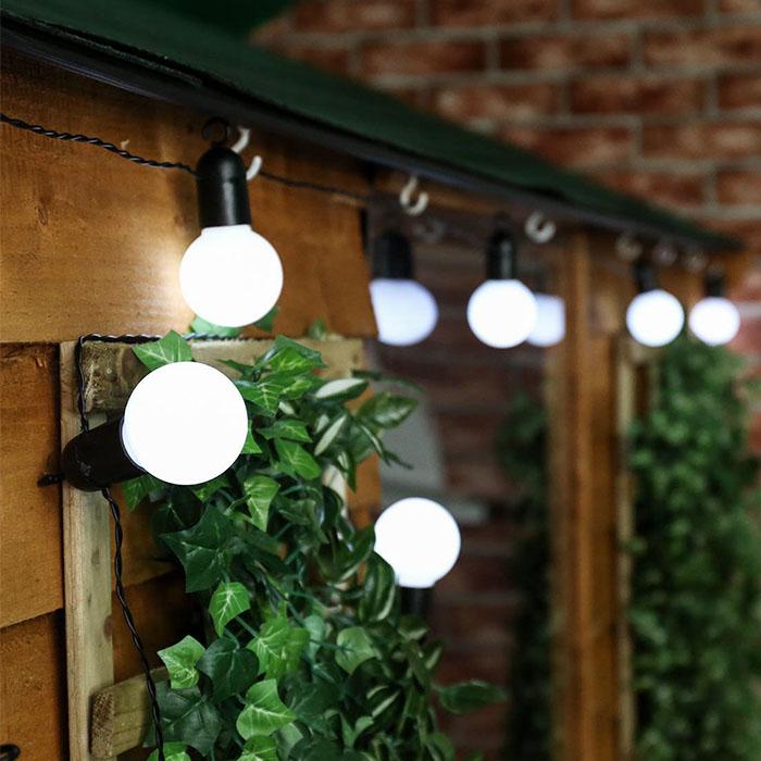 Гирлянда с лампочками - матовые, 50 лампочек, 15 м. на батарейках