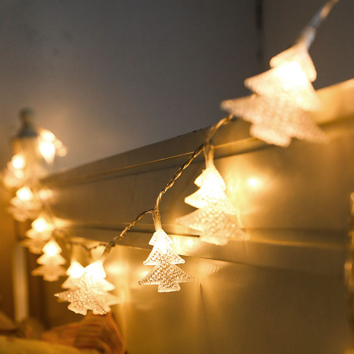 """LED гирлянда """"Елочки"""" 100 ламп 10 м, теплый белый, от сети"""