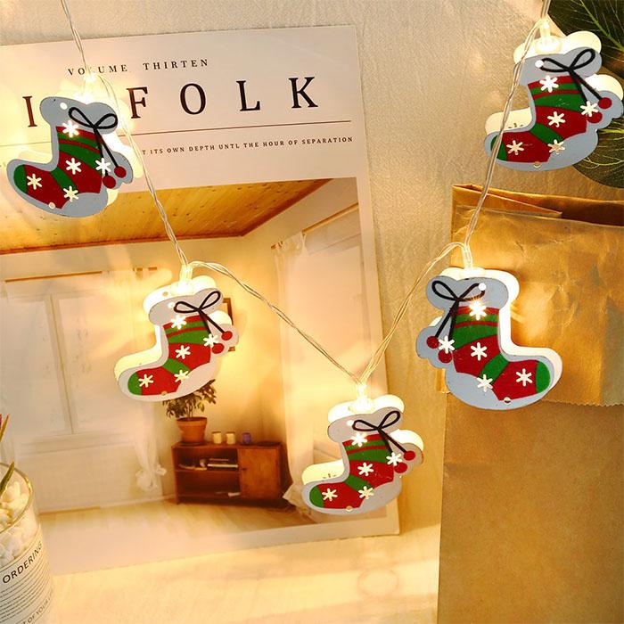 """Гирлянда """"Рождественские носочки"""", usb, 20 ламп 3м"""
