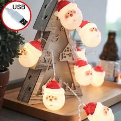 """Led гирлянда """"Дед Мороз"""", usb, 20 ламп 3 м"""