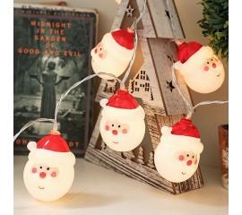 "Светодиодная гирлянда ""Дед Мороз"", 20 ламп 3 м, на батарейках"