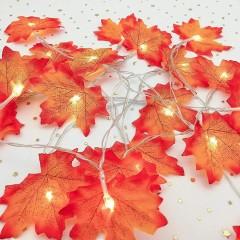 """Гирлянда """"Осенние листики одинарные"""" 10 ламп 1,5 м"""
