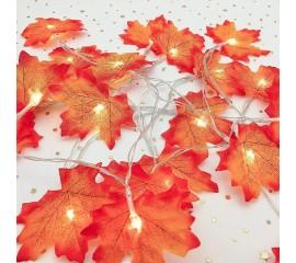 """Гирлянда """"Осенние листики"""" 20 ламп 3 м"""