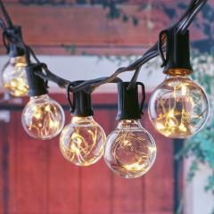 Гирлянда со светодиодными нитями,  30 ламп G40, 3,6V, 9 м + 3 м шнур