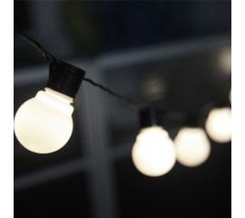 """Гирлянда """"Лампочки матовые"""" 2,6 м 10 ламп, на батарейках"""