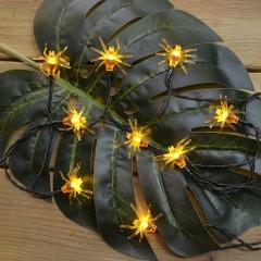 """Солнечная гирлянда """"Паучки желтые"""" 50 ламп 7,5 м, 8 режимов, теплый белый"""