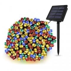 """Солнечная гирлянда """"стринг"""" 500 ламп 52 м, цветная, 8 режимов"""