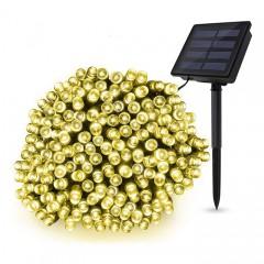 """Солнечная гирлянда """"стринг"""" 500 ламп 52 м, теплый белый,8 режимов"""