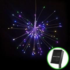 "Подвесной LED декор ""Мерцающие лучи"" на солнечных батареях 200led, 40 линий, цветная"