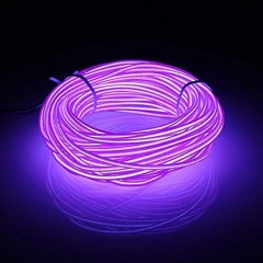 "Подсветка ""Неон"" на батарейках 3 режима, 3 м - фиолет"