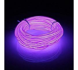 "Подсветка ""Неон"" на батарейках 3 режима, 1 м - фиолетовая"