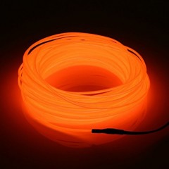 "Подсветка ""Неон"" на батарейках 3 режима, 3 м - оранжевый"