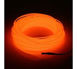 "Подсветка ""Неон"" на батарейках 3 режима, 1 м - оранжевая"