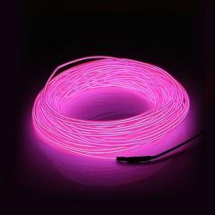 "Подсветка ""Неон"" на батарейках 3 режима, 3 м - розовая"