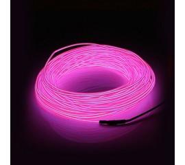 "Подсветка ""Неон"" на батарейках 3 режима, 1 м - розовая"