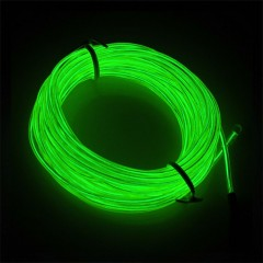 "Подсветка ""Неон"" на батарейках 3 режима, 5 м - зеленая"