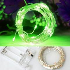Светодиодная нить 60л. 6 м. - зеленый, на батарейках АА