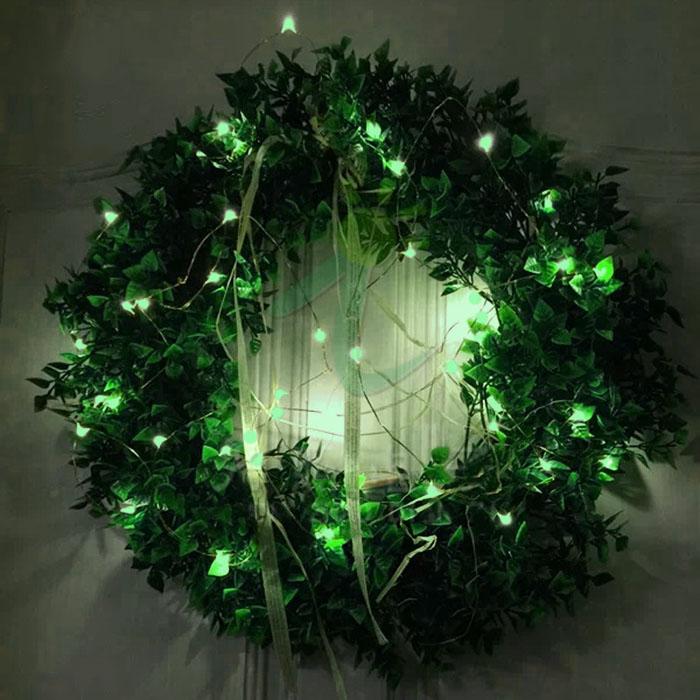 LED нить, 20 м 200 ламп, зеленый, USB