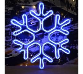 """Светодиодная """"Снежинка - неон"""" 40 см, голубой"""