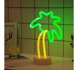 """Светодиодный ночник """"Неоновая пальма"""", usb / батарейки"""