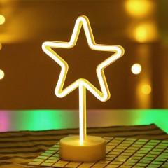 """Светодиодный ночник """"Неоновая звезда"""", usb / батарейки"""