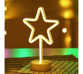 """Світлодіодний нічник """"Неонова зірка"""", usb / батарейки"""