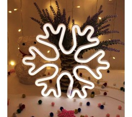 "Настенный LED декор ""Неоновая снежинка"", батарейки / USB"