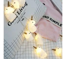"""Led гирлянда """"Единорожки"""" 10 ламп, 1,5 м"""