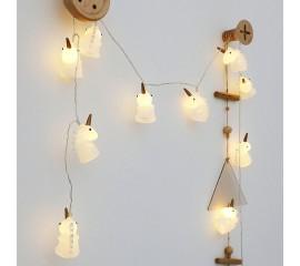 """Led гирлянда """"Единорожки"""" 20 ламп, 3 м"""