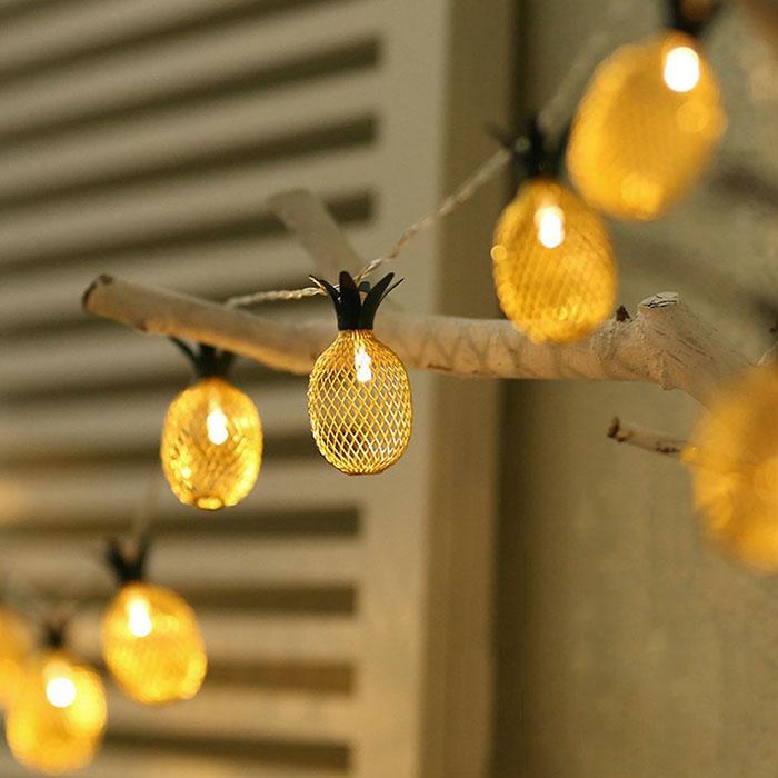 """LED гирлянда """"Ананас"""" 10 ламп 1,5 м, usb 8 режимов"""