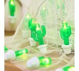 """LED гирлянда """"Кактус в горшке"""" 20 ламп 3 м, usb"""
