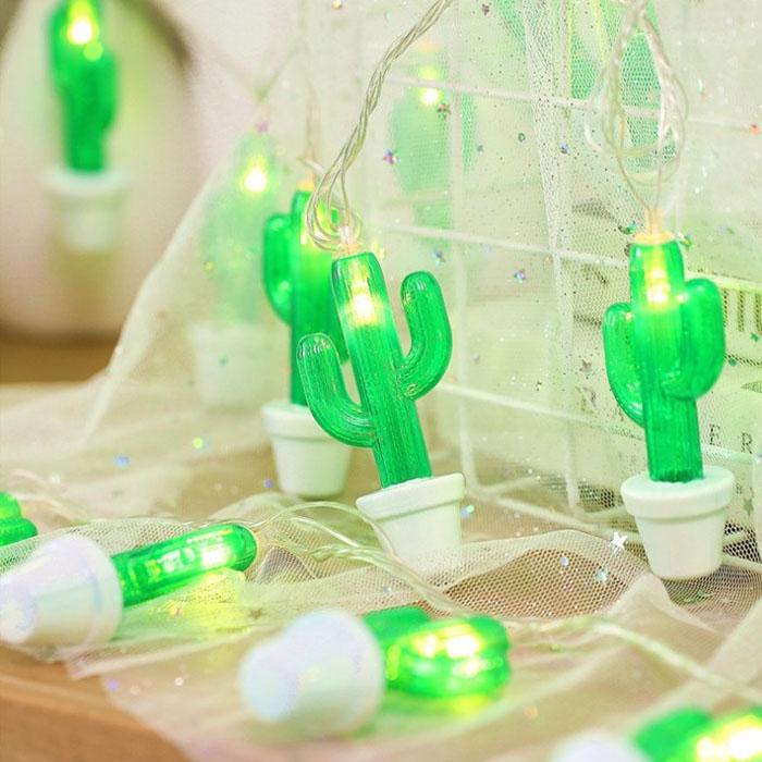 """LED гирлянда """"Кактус в горшке"""" 20 ламп 3 м"""
